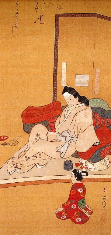 12-2菱川師宣・遊女物思いの図 太田記念美術館蔵.jpg